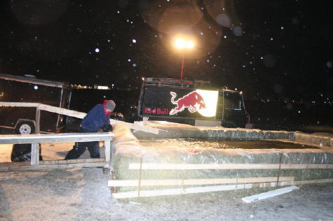 red bull and rails